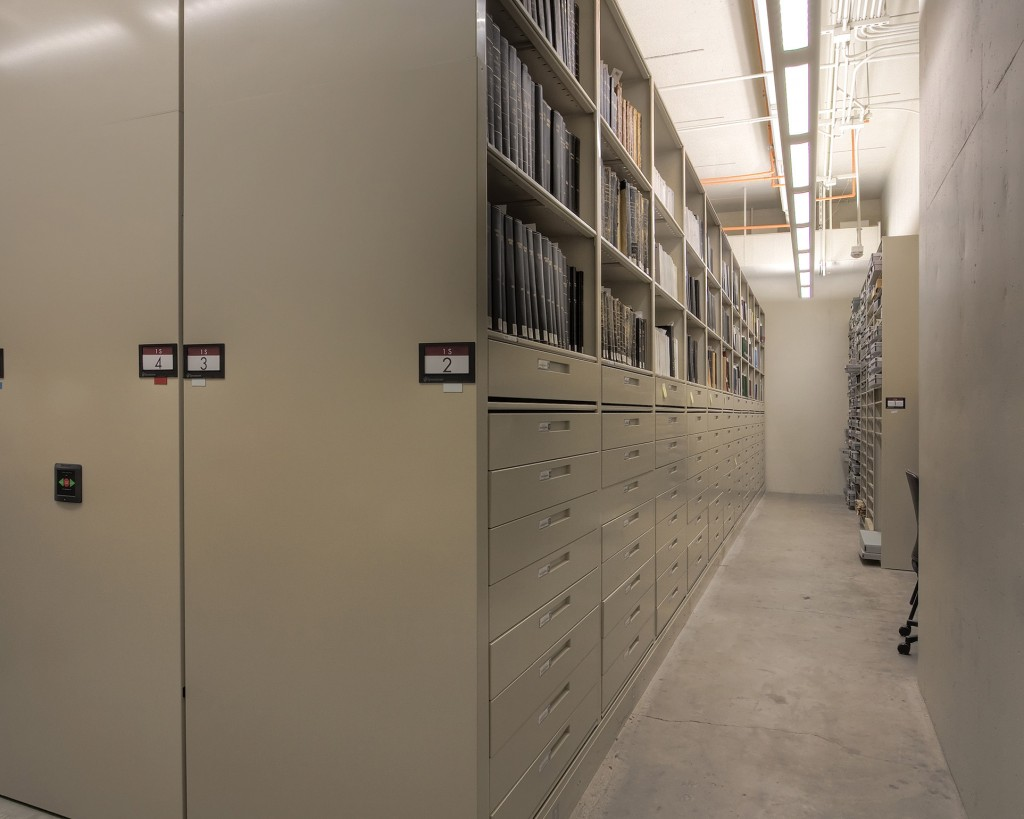 Compact Mobile Storage system at LDS Library for Archival Storage