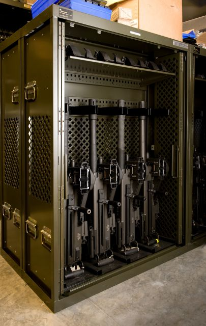 Military Storage - Weapons storage system on military base
