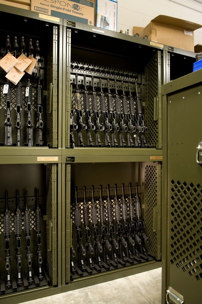 Military Storage Universal Weapon Rack at Camp Lejeune Military Base