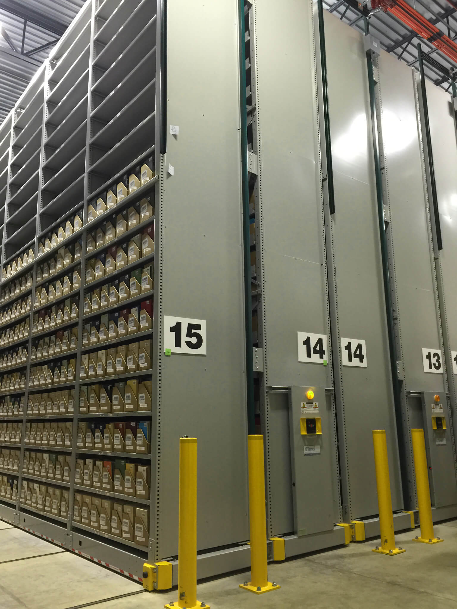 Library Archive Storage at Library off-site Shelving Facility