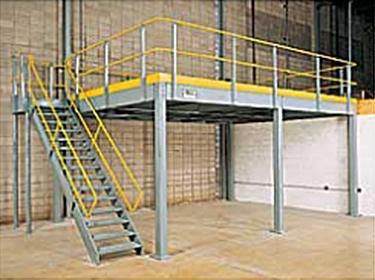 Mezzanine heavy-duty storage solution