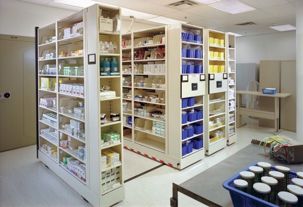 Pharmacy Storage High Density Mobile Storage System