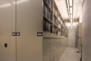 Archival Storage System on High-Density Mobile Shelving
