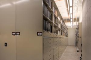 Archival Storage System on High-Density Mobile Shelving