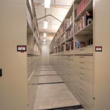High-Density Mobile Shelving for Archival Storage