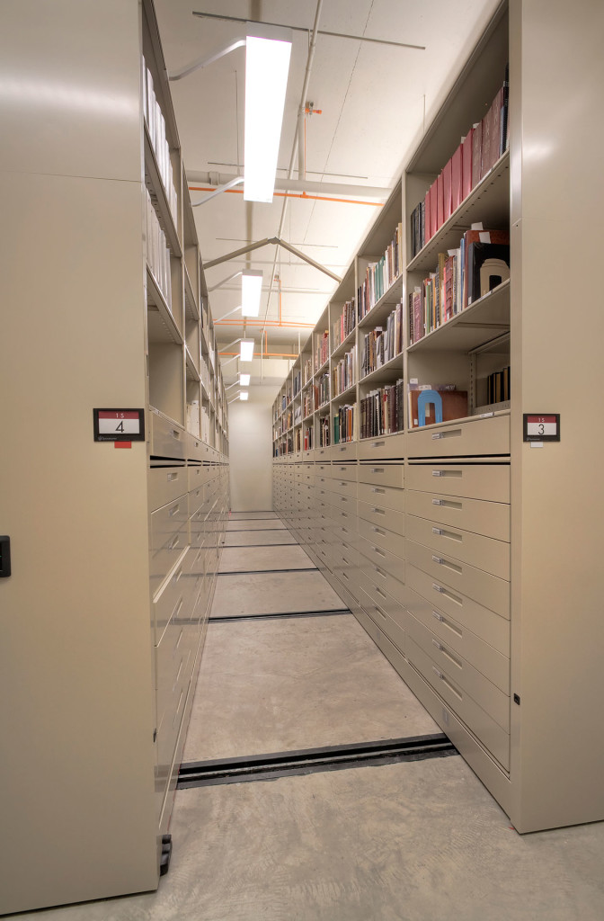 High-Density Mobile Shelving for Archival Storage