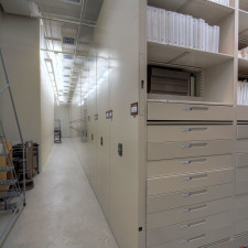 Archival Storage Solutions on Moving Shelves