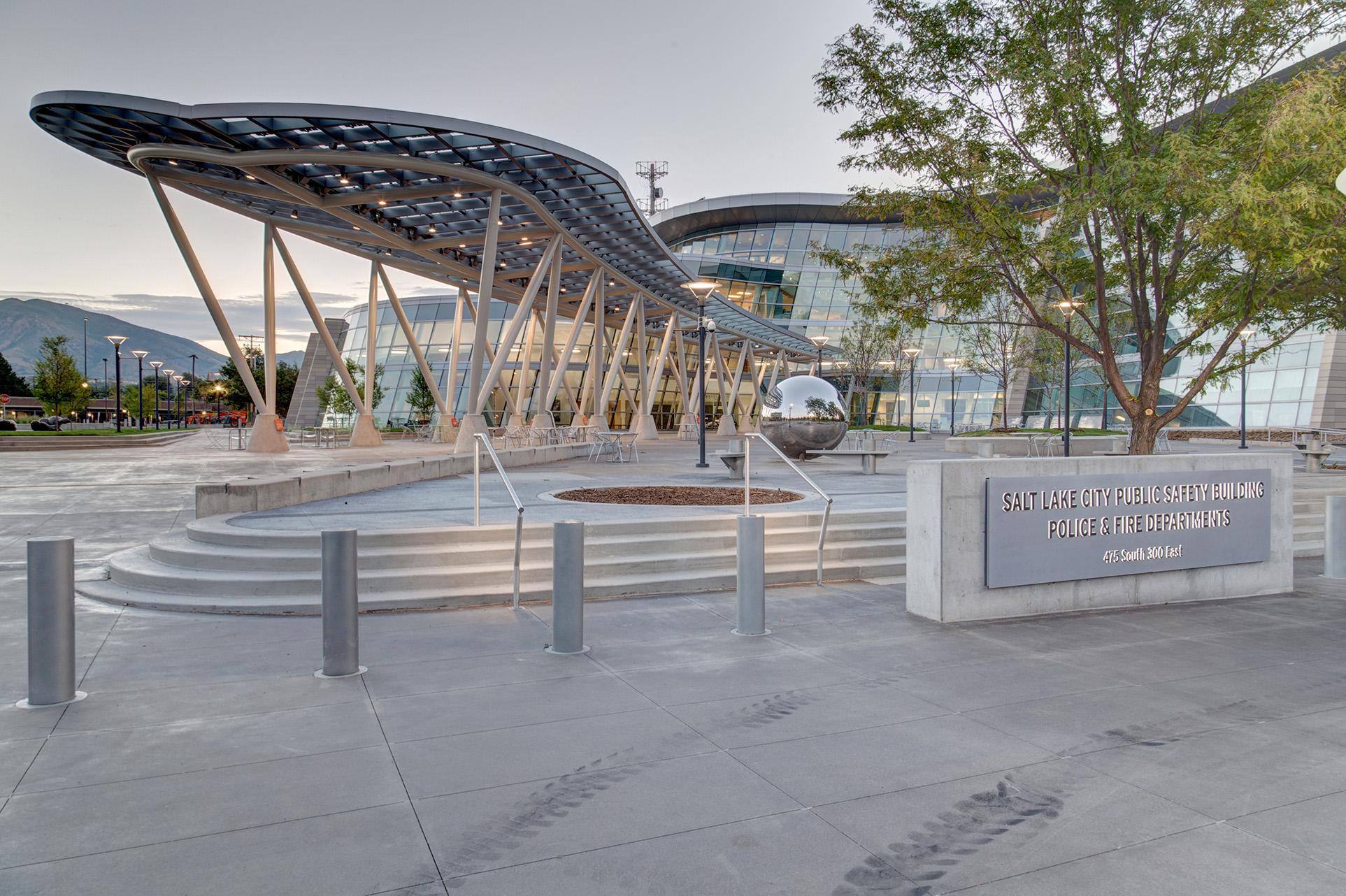 Police Officer Gear Storage at Salt Lake City Public Safety Building