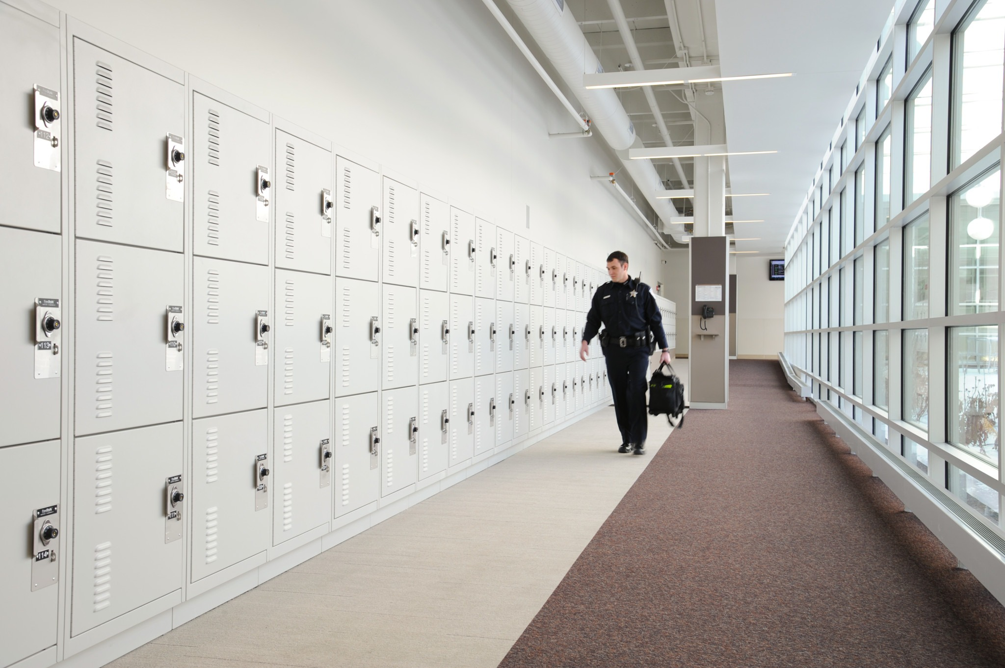Public Safety Storage - Gear Lockers at Skokie Police Department