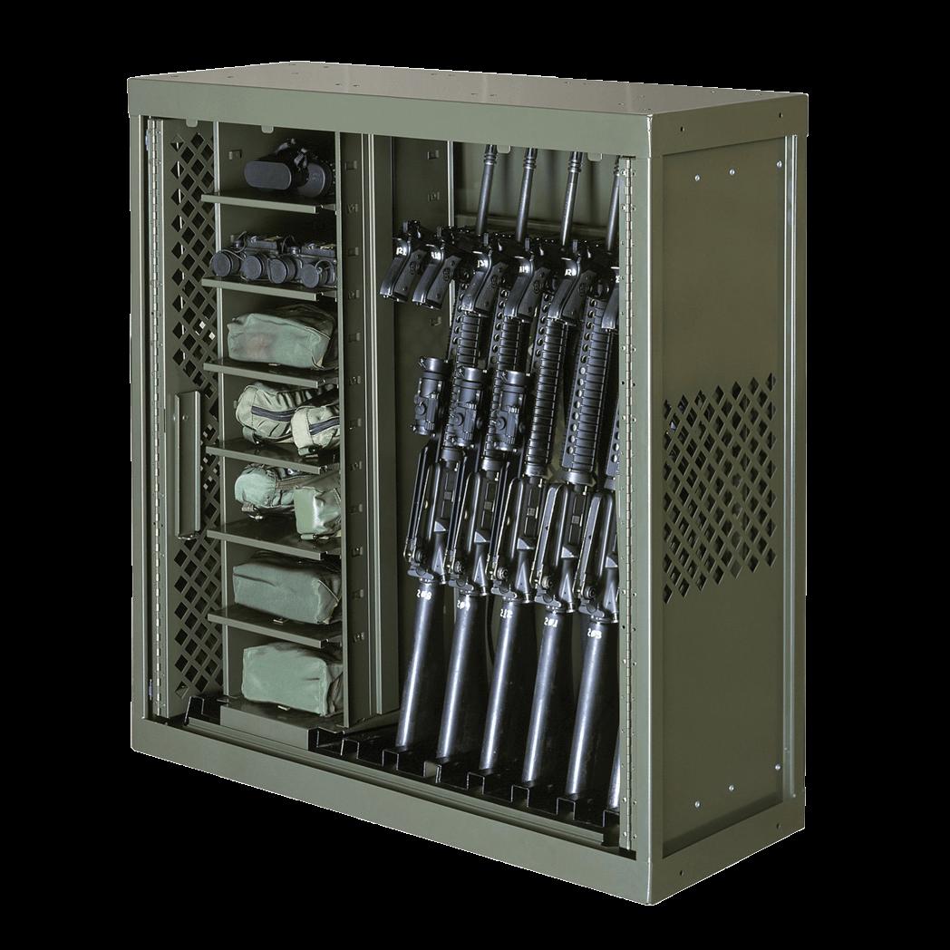 Weapons storage rack