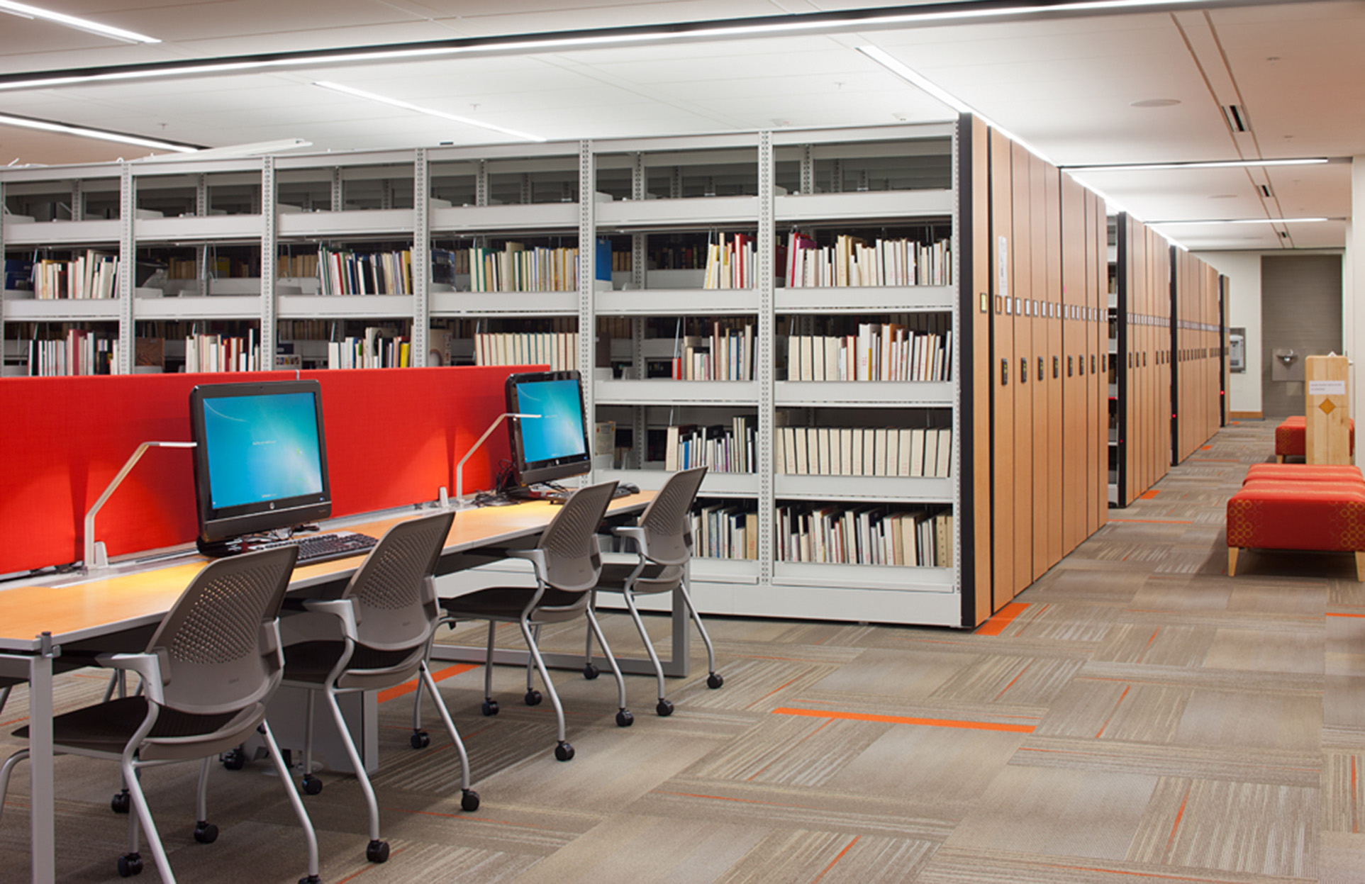 Library Storage - High-density compact library shelving