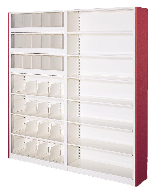 4-Post library shelving