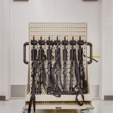Public Safety Storage - Weapon Storage Racking on Mobile Shelving Solution for