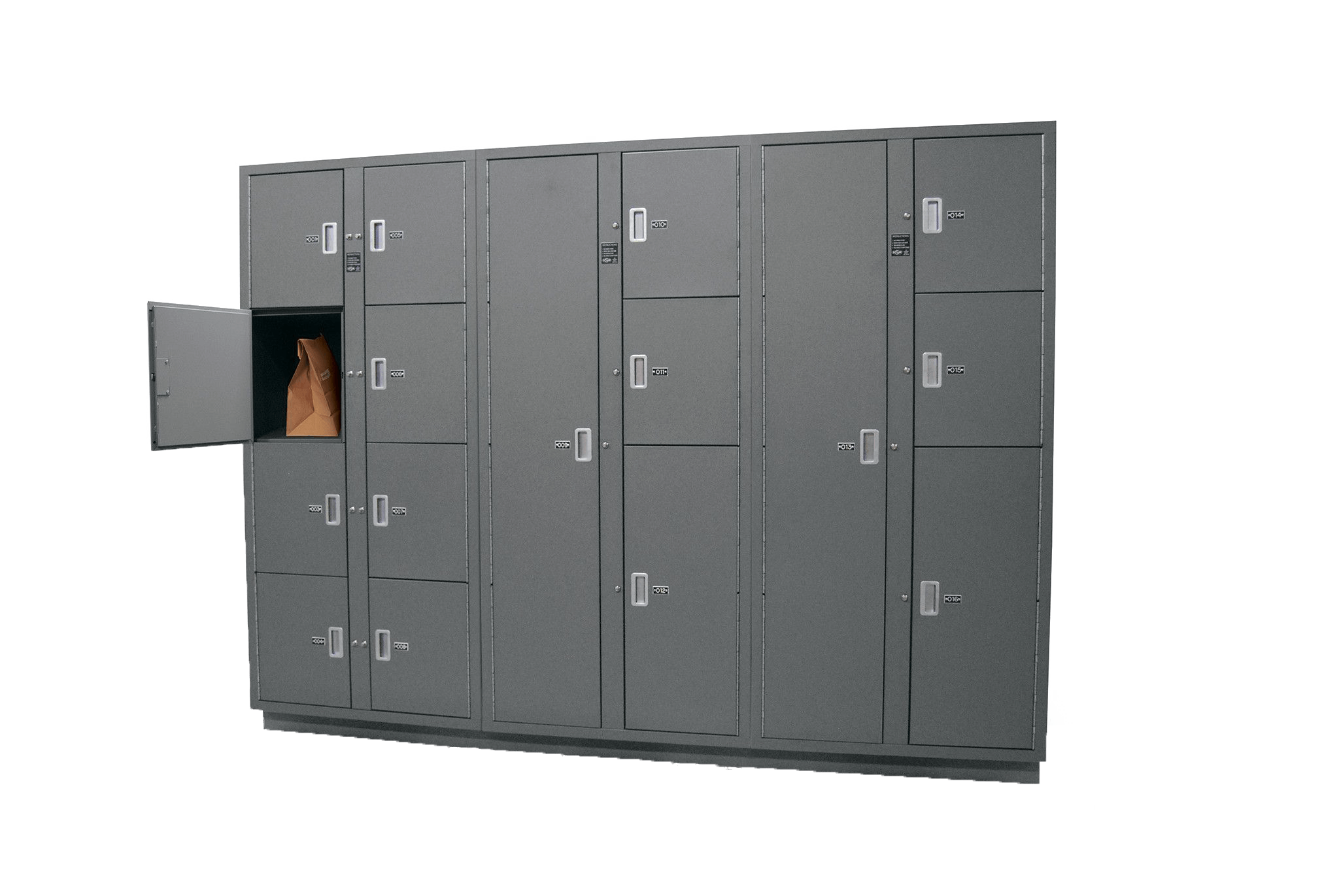 Secure evidence locker storage