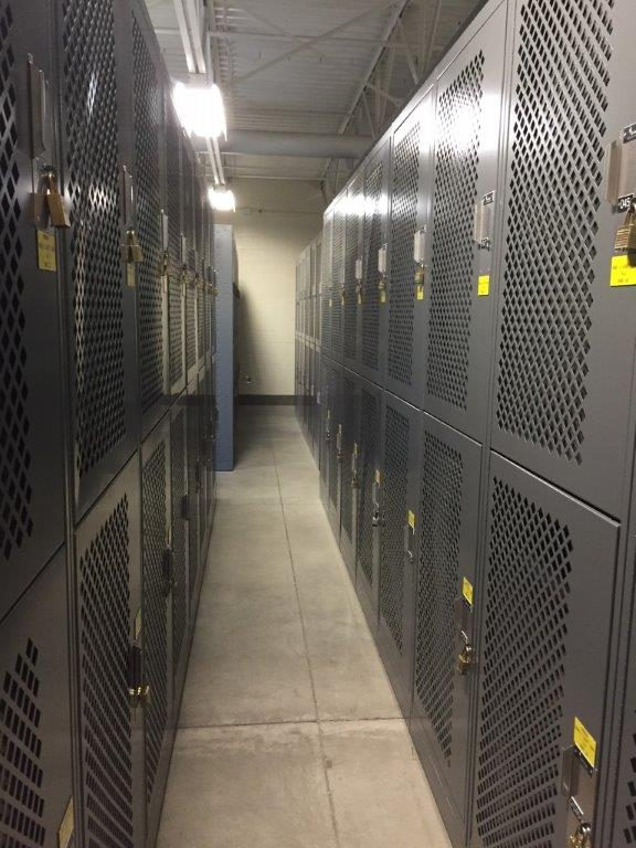 Wider locker storage for gear at Idaho Army National Guard