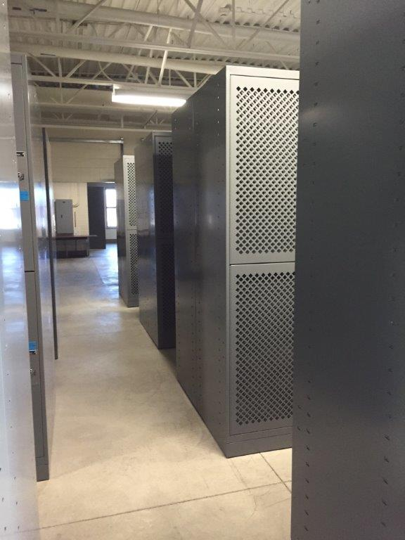 Double storage space with bigger gear bag lockers at Idaho Army National Guard