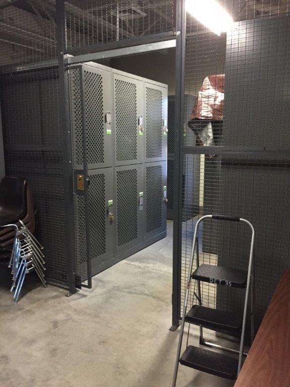 Secure gear bag storage at Idaho Army National Guard