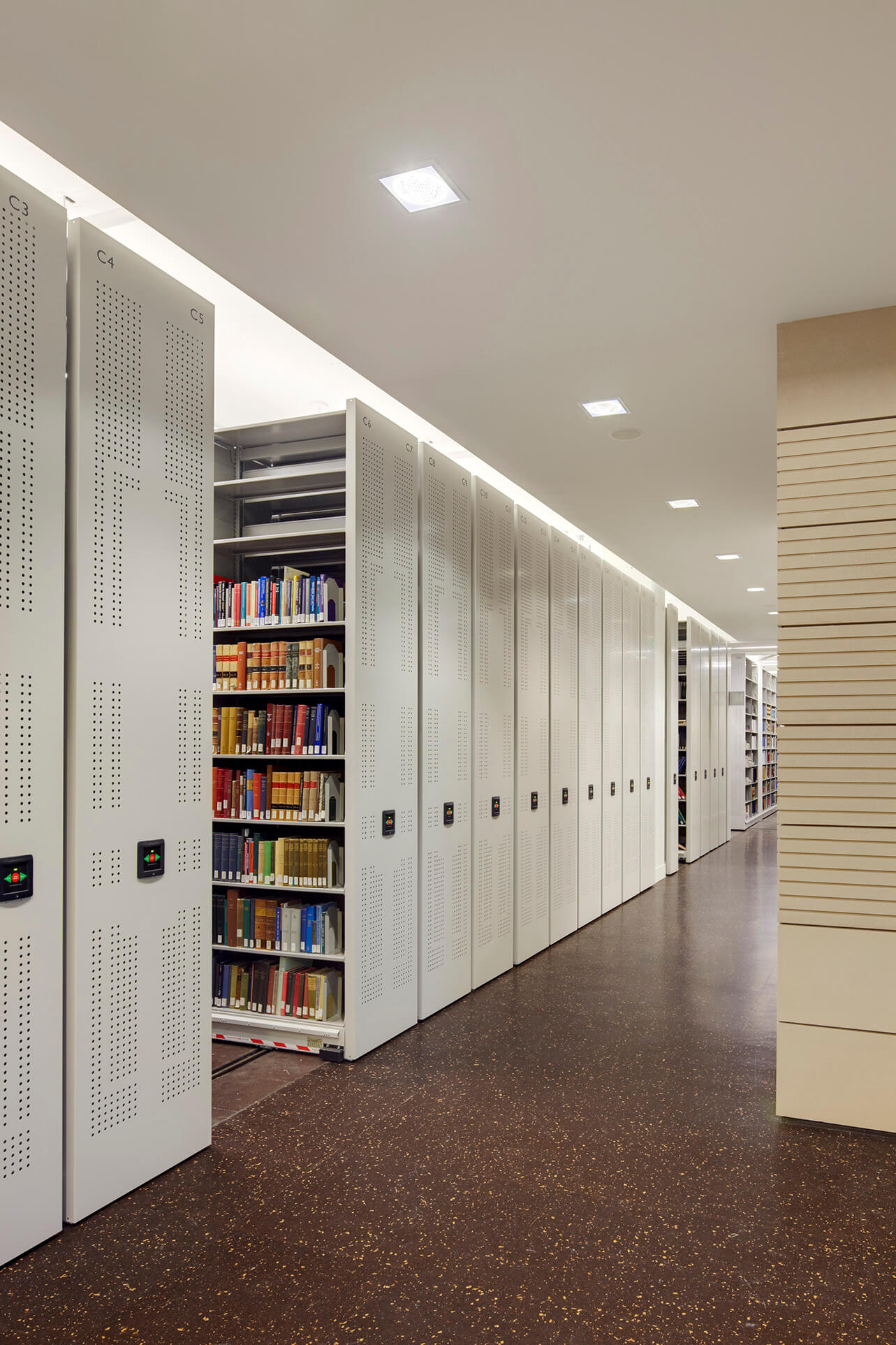 High Density Mobile Shelving System in Law Library at University of Berkeley