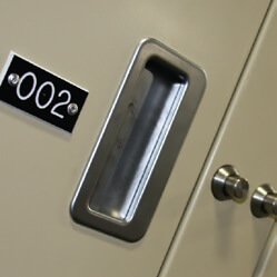 keyless lock for evidence storage locker