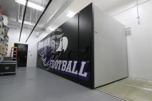 Mobile Shelving Football Equipment Storage