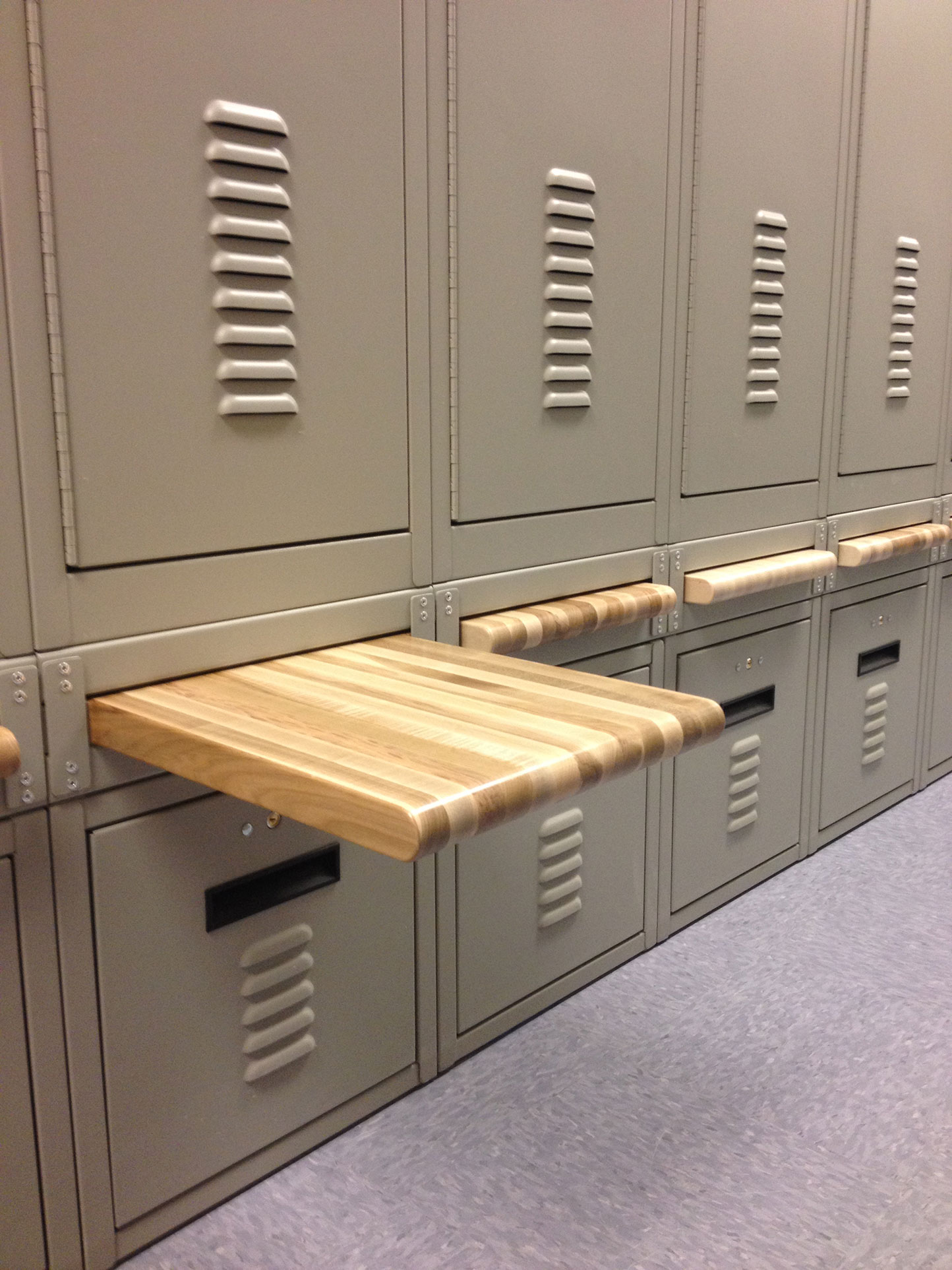 Retractable Breadboard Bench Lockers at East Mesa Reentry Facility