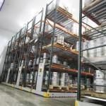 Cooler Storage Using Mobile Racking