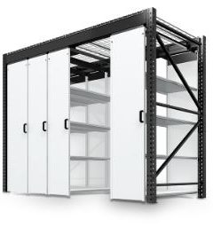 Levpro rail-less mobile storage system to custom order