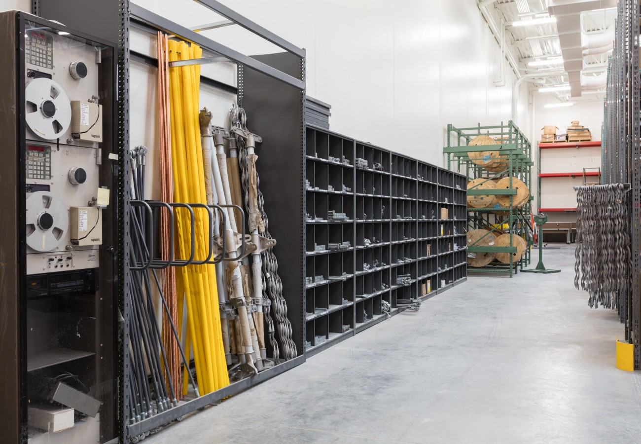 4 post shelving for small part storage in warehouse