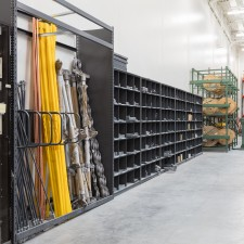 4-post shelving for part storage in warehouse