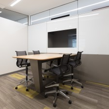 office space with modular walls with embedded technology