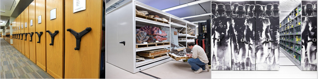 Mobile Shelving in various applications