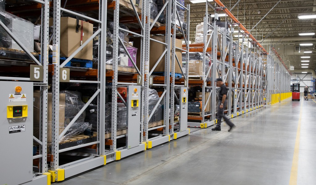 Mobile Shelving System for warehouse storage