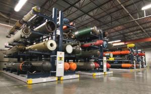 Torpedo Storage in a Warehouse