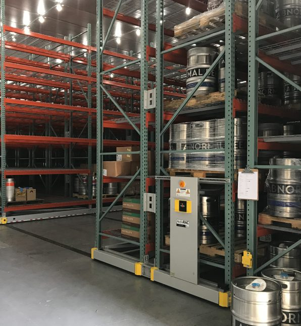 ActivRAC Mobile System stores kegs
