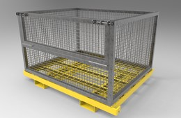 cage container kit for pallet racking