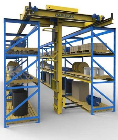 Heavy-stak industrial stacker crane system for large items