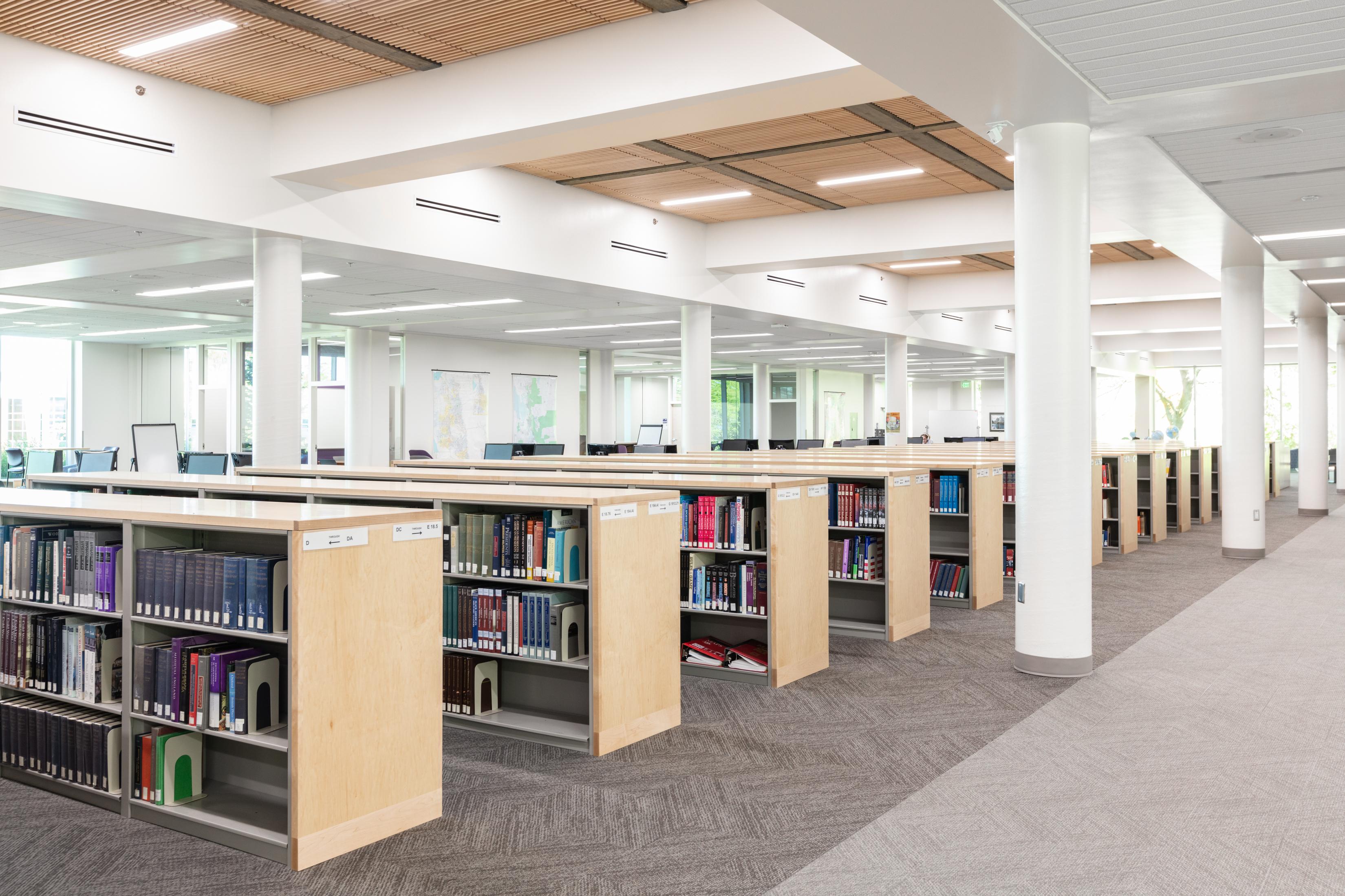 Weber_State_University_Custom_Library_Shelving