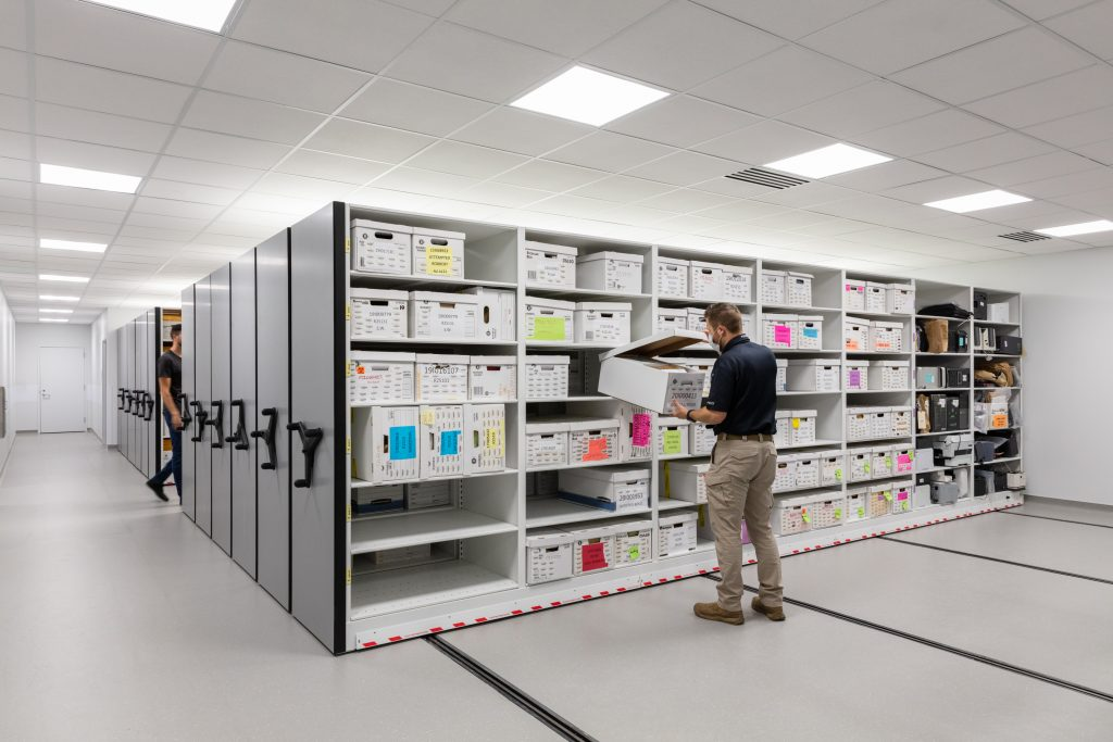 High Density Mobile Storage System for Evidence at West Valley Police Department