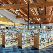 library lighting system for kearns library