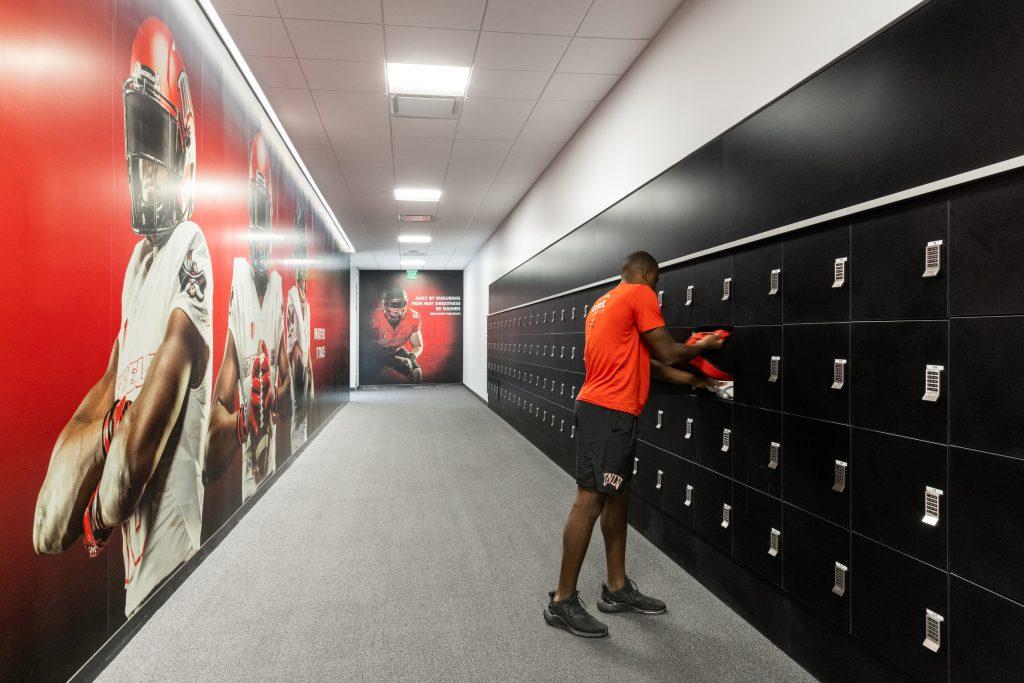 Day Use Lockers for UNLV Football Team