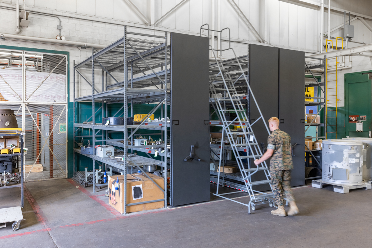 high-density mobile system for military storage in san diego